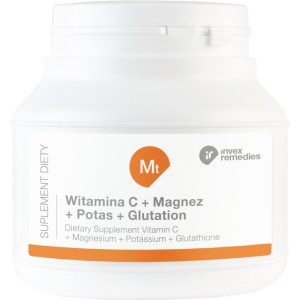 Witamina C + Magnez + Potas + Glutation, Invex Remedies, 150g