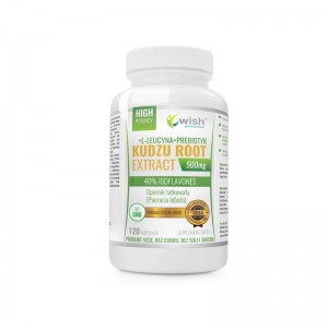 KUDZU ROOT EXTRACT 500mg, Wish, 120 kapsułek